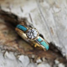 Turquoise, Fashion, wedding ring, gold