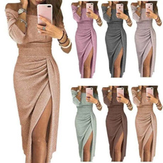 Plus Size, Dress, slim, Mini dress