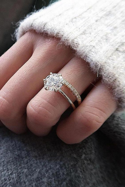 Sterling, DIAMOND, Engagement Ring, Wedding