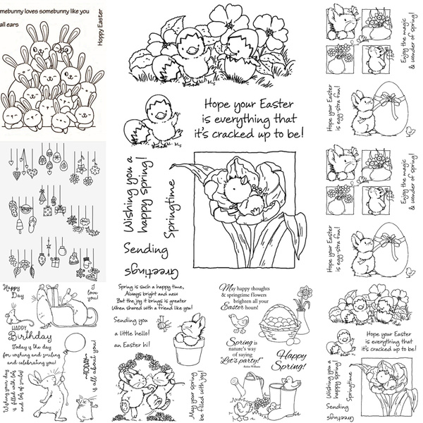 siliconestamp, 儿童绘画模板, diyscrapbook, rabbit