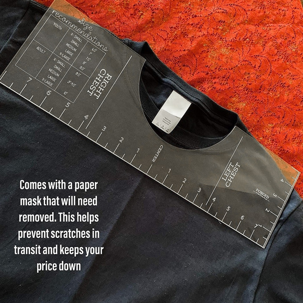 tshirtalignmentguide, vinylrulerguide, clothingdesign, ruler
