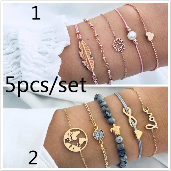 Charm Bracelet, Heart, Fashion, women bracelets