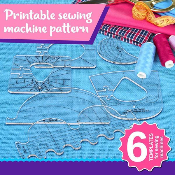 sewingruler, newhouseholdsewingmachinerulertemplateset, 6piece, Quilting