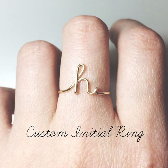 Couple Rings, 26letterring, navel rings, Jewelry