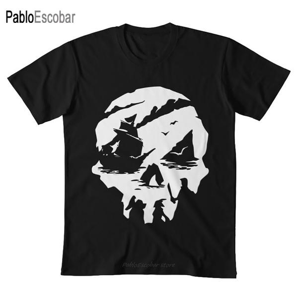 Shorts, Shirt, skull, Broadcloth