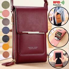 leather wallet, rfidbag, Shoulder Bags, Clutch