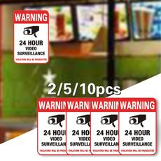 24hourmonitorcamera, warningsign, Monitors, waterproofsecuritysign
