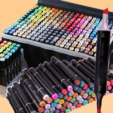 Head, art, colorpen, School