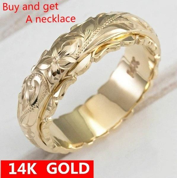 wedding ring, Hawaiian, gold, ladiesring