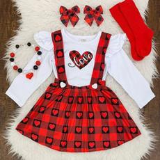 blouse, Heart, Baby Girl, plaid