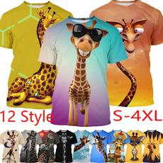 giraffe, Summer, Plus Size, 3dshirt