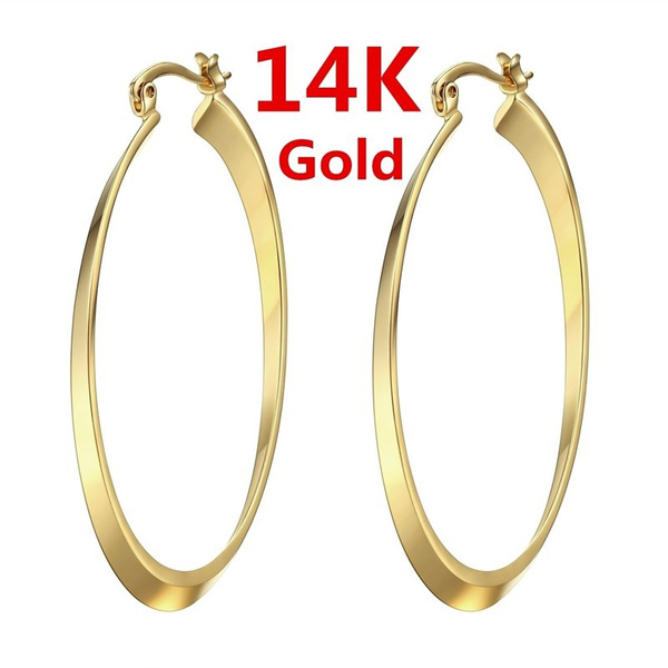 yellow gold, Hoop Earring, Jewelry, Gifts
