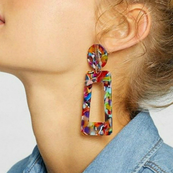 Fashion, Colorful, Stud Earring, Leopard