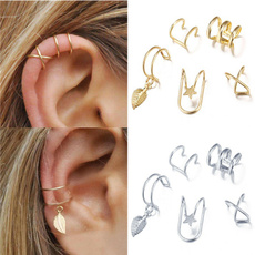 gold, Gifts, Ear Cuff, leaves