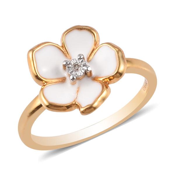 Sterling, goldplated, DIAMOND, wedding ring
