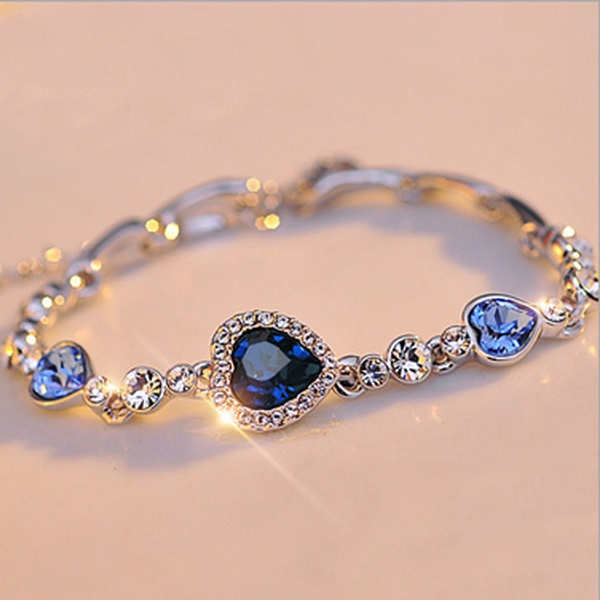 Sterling, Crystal Bracelet, DIAMOND, Love