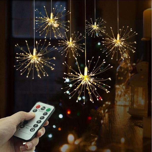 Decor, fireworklight, Christmas, Garland
