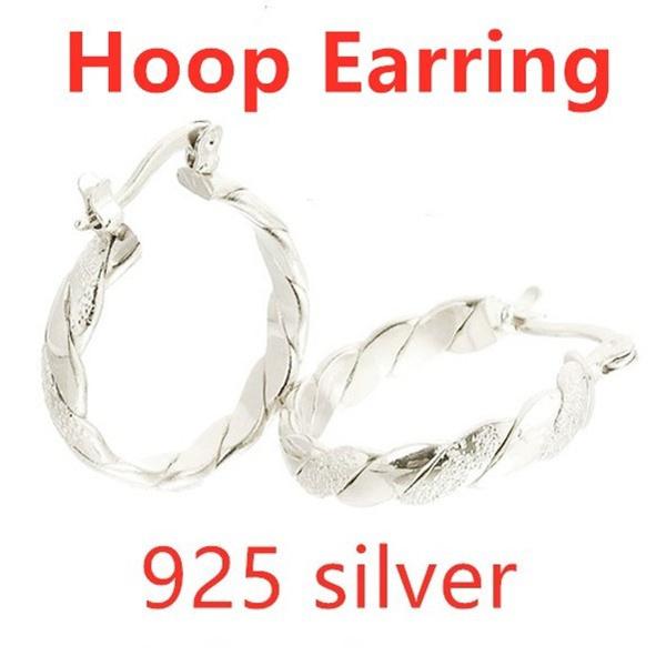 Sterling, earringpendant, Hoop Earring, Dangle Earring