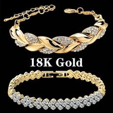 Charm Bracelet, Sterling, Fashion, Rose