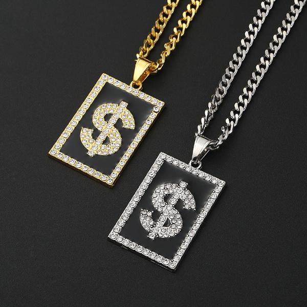 DIAMOND, gold, Stainless Steel, dollar