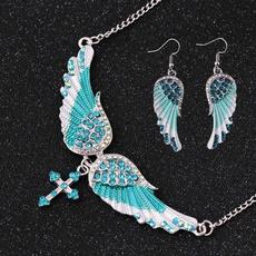 wingsdangleearring, Dangle Earring, Jewelry, crossangelwingsnecklace