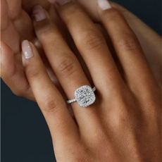 Sterling, White Gold, DIAMOND, Women Ring