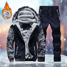 Fleece, Plus Size, Winter, hoodedjacket