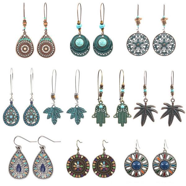Fashion, leaf, Jewelry, Stud Earring