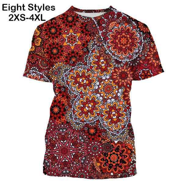 bohemia, Plus Size, Graphic T-Shirt, slim
