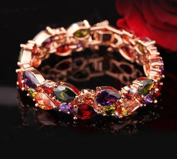18k gold, Natural, Jewelry, garnet