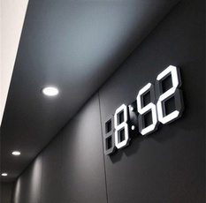 led, Clock, white, Modern
