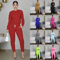 woman fashion, trousers, Running, Necks