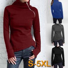 blouse, zippersweatshirt, Plus Size, Winter
