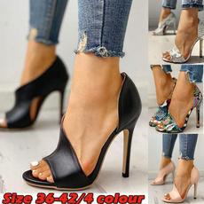 Summer, Fashion, Womens Shoes, Peep Toe