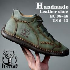 Flats, Plus Size, Waterproof, leather