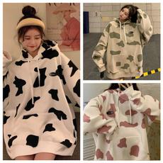 cute, Fashion, womencowhoodedblouse, womensweatershirt