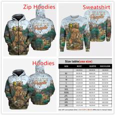 huntingbear, 3D hoodies, Fashion, funnyfashion