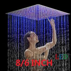 led, squareshowerhead, pommeaudoucheéconomique, bathroomshowerhead