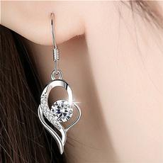 fashionableearring, Sterling, DIAMOND, women's earrings