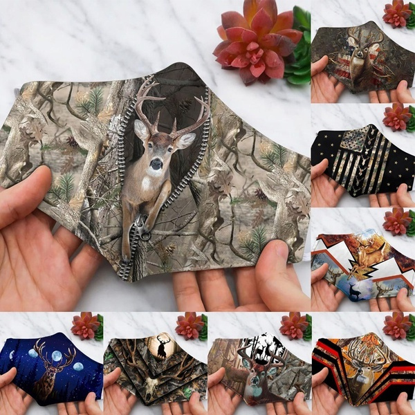 Fashion, unisex, printedmask, Deer