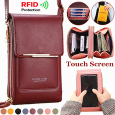 smallshoulderbag, Touch Screen, clutch purse, leather purse