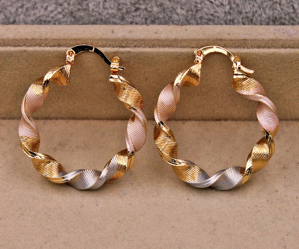 18 k, bohojewelry, gold, Stud Earring