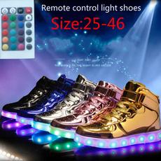 casual shoes, luminousshoesmen, childrensrechargeableshoe, led