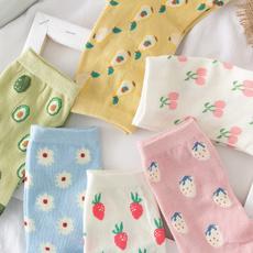 Kawaii, cute, avocado, Socks