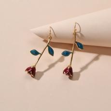 enamelflowerearring, Flowers, earringsjewelryaccessory, Colorful