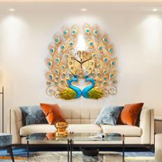 peacock, quartz, Wall Art, 3dwallclock