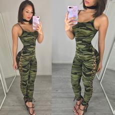 strapless, Fashion, jumpsuitsampplaysuit, camouflage