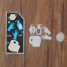 Card, stencil, Scrapbooking, viru