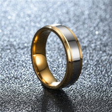 Steel, wedding ring, Gifts, Simple