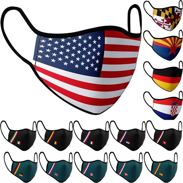 Fashion Accessory, mouthmask, flagmask, national